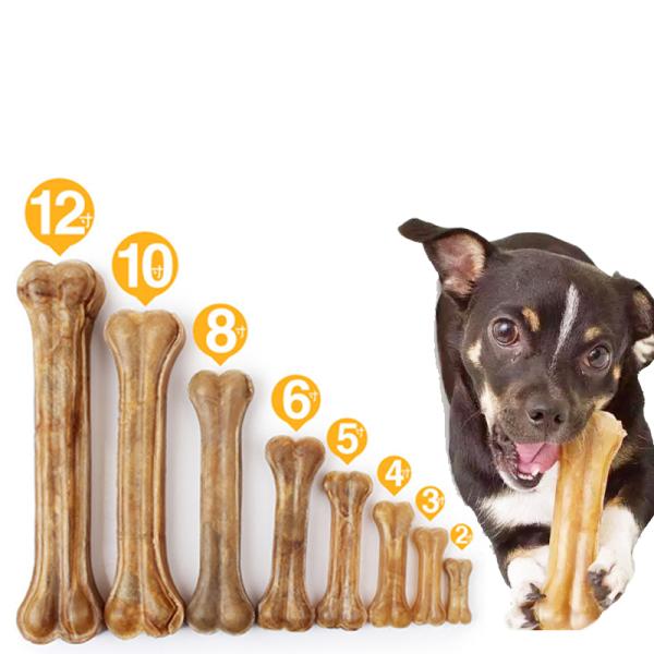 (1 chiếc)-Xương ống da bò cho chó gặm - phù hợp với nhiều loại chó Xương da bò sạch răng bổ sung canxi chắc xương