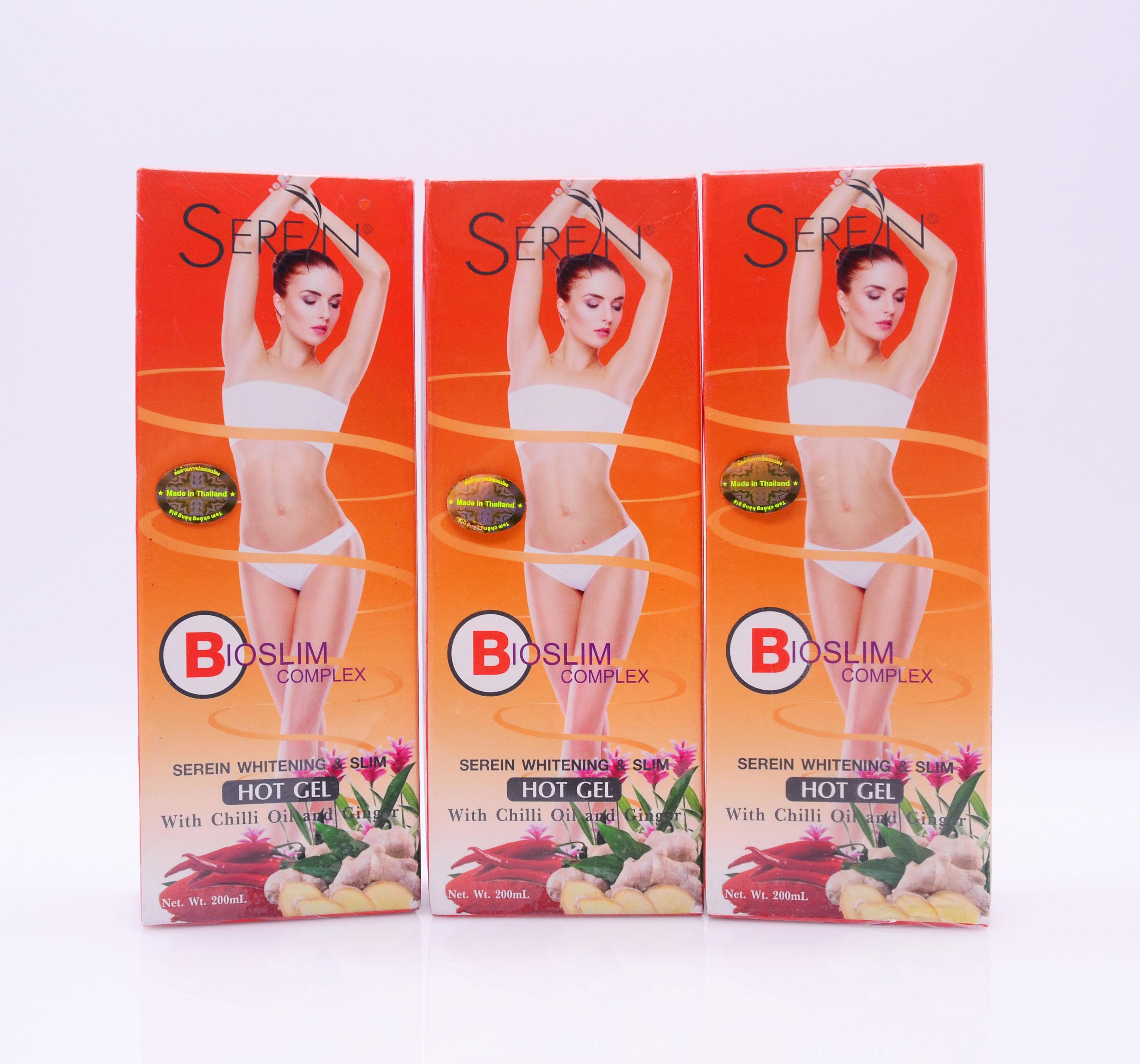 Gel Tan Mỡ Bio Slim SEREN GỪNG ỚT (Trắng Da & Giảm Mỡ) Thái Lan 200ml