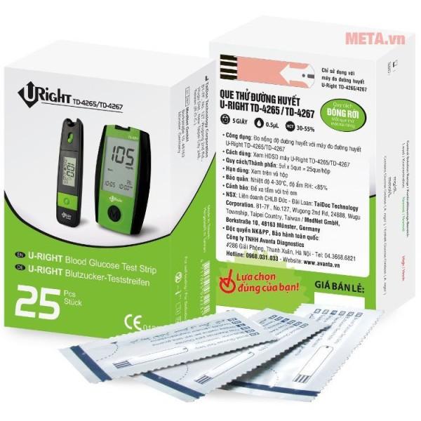 Nơi bán que thử đường huyết U-Right TD-4265 25 Que