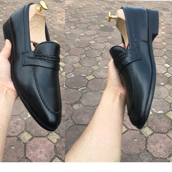 Giày Lười Nam Giày Da Bò Đế Cao Su giá rẻ