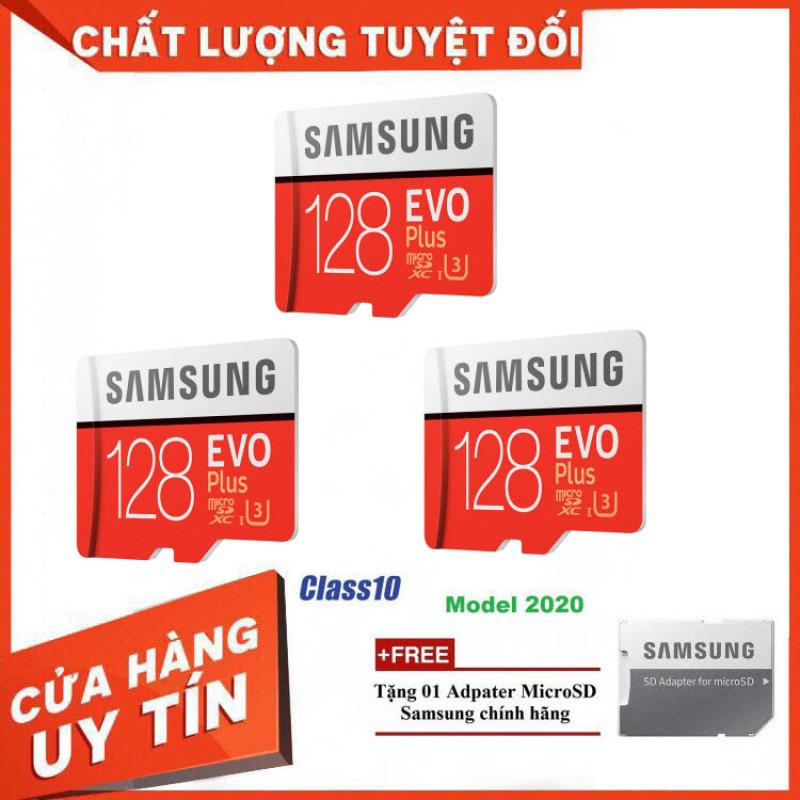 [Xả Kho] Combo 3 Thẻ nhớ MicroSD Samsung EVO Plus 4K 128GB 100MB/s 128GB Box Hoa - Hàng Chính Hãng
