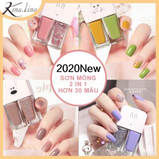 Combo 2 lọ sơn móng tay siêu kute- sơn nhanh khô mùi thơm nhẹ nhàng, lâu bong tróc- KinaKino Phukienlamdep Hottrend 2020 thumbnail