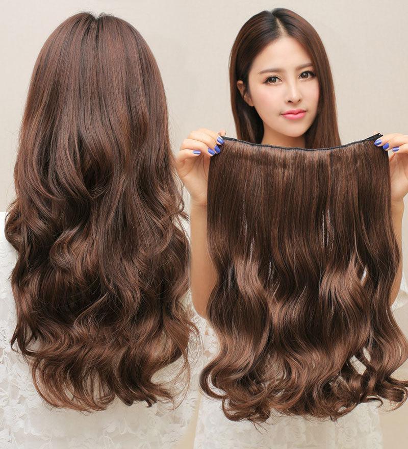 Tóc giả nửa đầu xoăn đuôi có kẹp - Tóc giả xoăn đuôi tóc xoăn gơn sóng giúp bạn thay đổi kiểu dáng phong cách mỗi ngày nhập khẩu