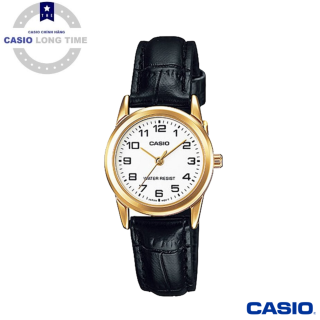 [Ủy Quyền Bởi Casio Anh Khuê]Đồng hồ nữ Casio LTP-V001GL-7BUDF- Dây Da Thật- Viền Mạ Vàng thumbnail