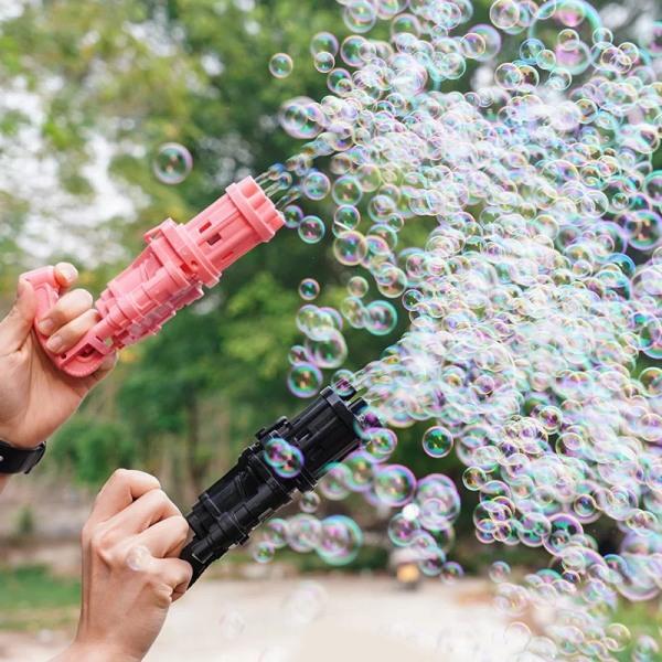 Súng máy bắn phun thổi Bong Bóng Xà Phòng ngầu 8 nòng đồ chơi ngoài trời cho bé an toàn không lo bẩn tay mới nhất HOT 2021