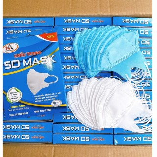 Khẩu trang vải người lớn Mask 5d 1 hộp 10 cái chính hãng Famapro diệt khuẩn bảo vệ an toàn thumbnail