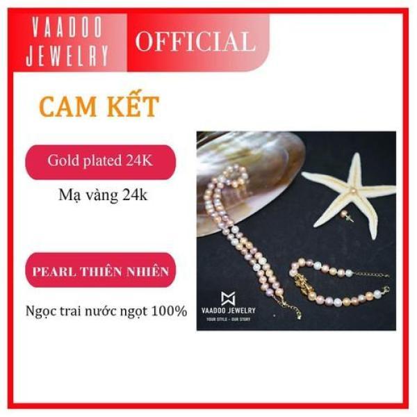 Bộ trang sức ngọc trai Tứ Quý Vaadoo tặng 01 bộ trang sức bạc đá tím cao cấp