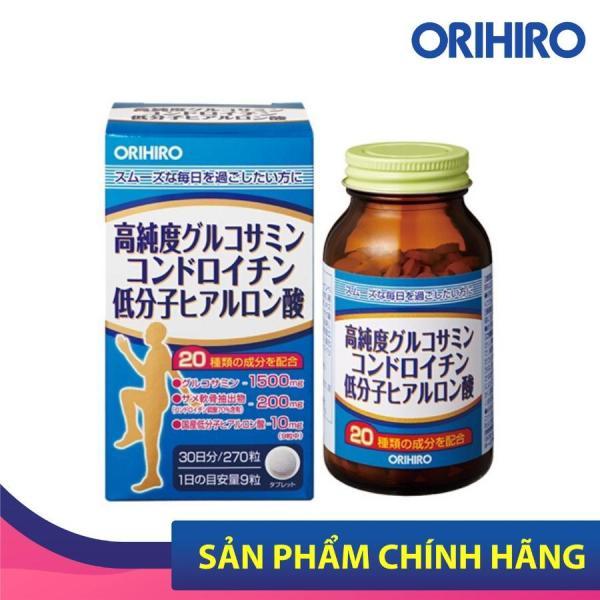 Viên uống bổ xương khớp tổng hợp Glucosamine, Chondroitin, Hyaluronic Acid Orihiro Nhật Bản, 270 viên/lọ nhập khẩu