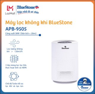 Máy Lọc Không Khí BlueStone APB-9505- Công suất 38W- Diện Tích Lọc Đến 20m2 - Hàng Chính Hãng - Bảo hàng 24 Tháng thumbnail