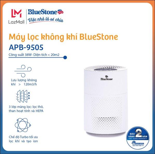 Máy Lọc Không Khí BlueStone APB-9505- Công suất 38W- Diện Tích Lọc Đến 20m2 - Hàng Chính Hãng - Bảo hàng 24 Tháng
