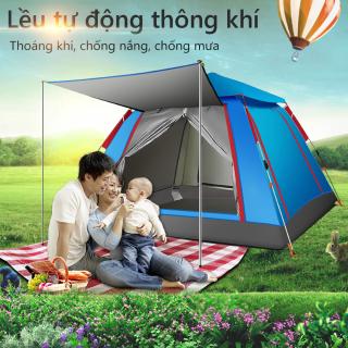 Lều cắm trại lều dã ngoại tự động cho 3-4 người hai lớp vải chống tia UV chống thấm lều picnic gia đình Our shopping home thumbnail