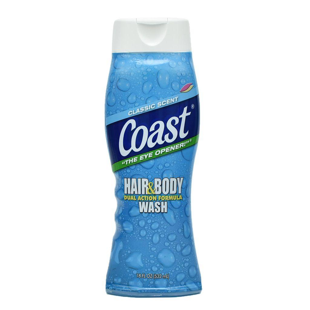 Sữa tắm gội Coast Hair Body Wash 2 in 1 - Chuyên dành cho nam - 532ml