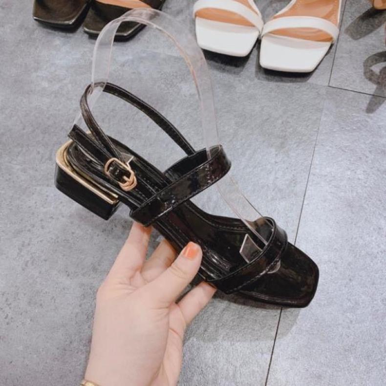 Giày cao gót 2p dây mảnh da bóng siêu hot giá rẻ