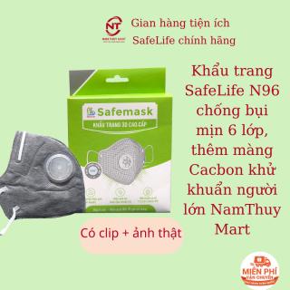 Khẩu trang N96+ Safelife 6 lớp lọc bụi mịn, màng Cacbon khử mùi, khử khuẩn tái sử dụng cho người lớn _NamThuy Mart thumbnail