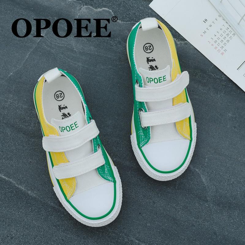 Trẻ Em Giày Vải Bố Giày Trắng Form Nhỏ Thường Giày Trẻ Em Bé Trai Giày Đế Bằng Bé Gái 2019 Mùa Xuân Thu Mẫu Mới