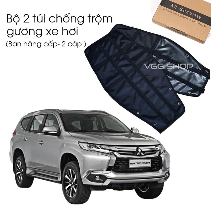 Bộ túi chống trộm gương ô tô, gương xe hơi - có viền cáp lõi thép chống cắt, chống bẻ ( Sedan: Mercedes C200, C300, E300, S-s class, Toyota Camry, Honda Civic, Kia K3...)