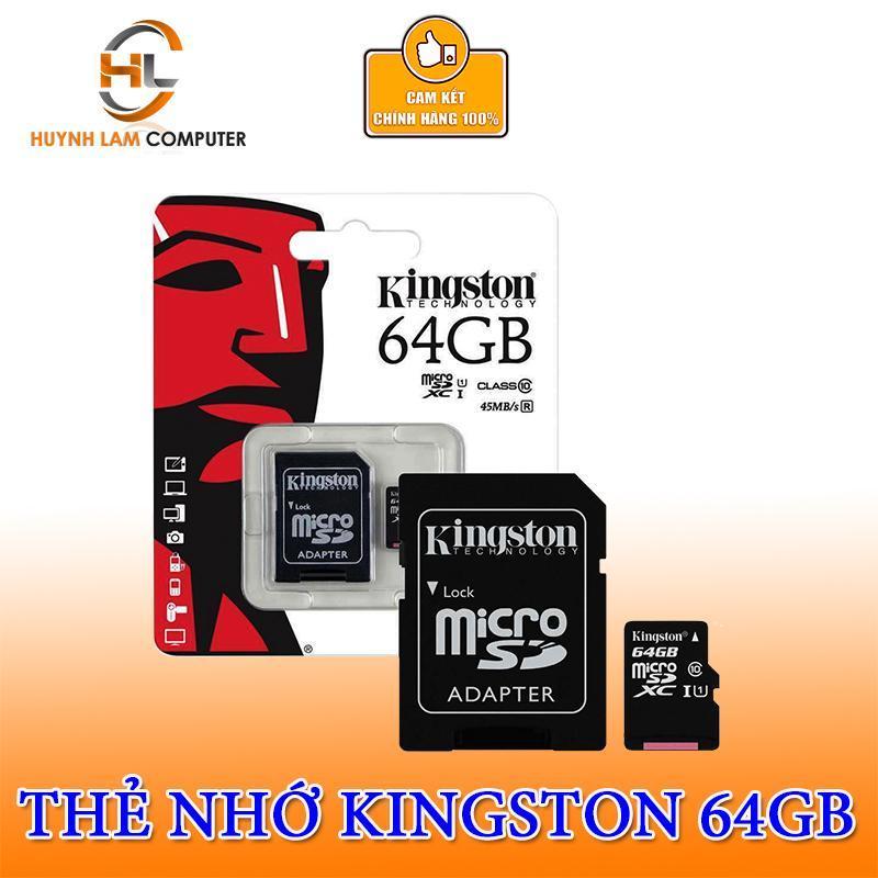 Thẻ nhớ 64GB - Thẻ nhớ 64GB Kingston MICRO SDXC Class10 FPT phân phối