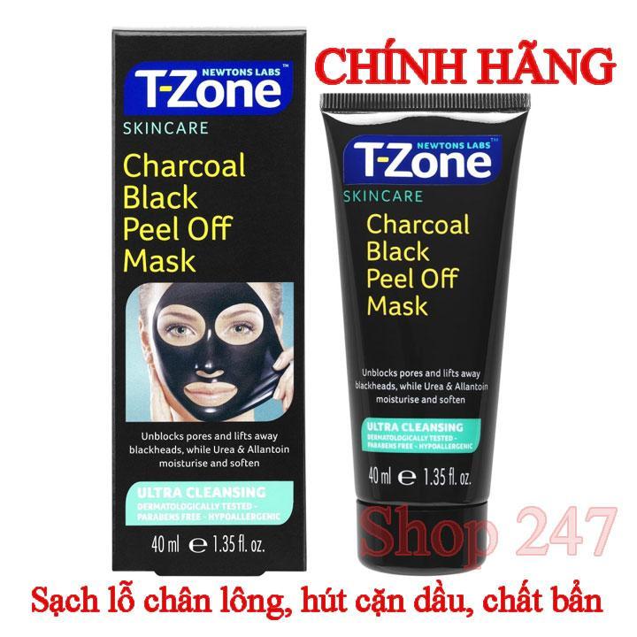 Mặt Nạ Tẩy Tế Bào Chết T-Zone Charcoal Purifying 75ml sạch da kháng khuẩn