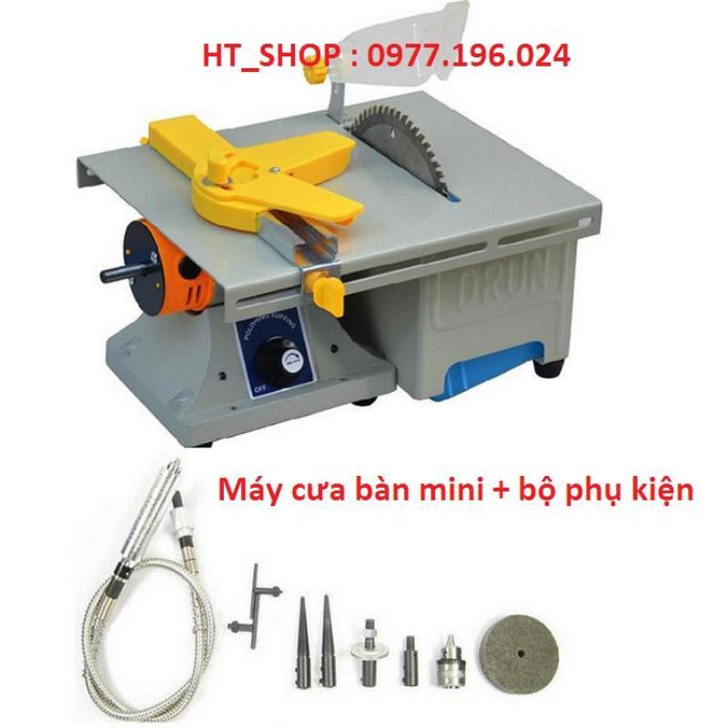 Máy cưa bàn mini kết hợp khoan mài khắc tiện dụng