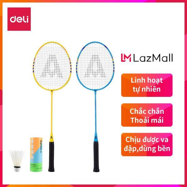 Bảng giá DELI Vợt cầu lông gồm 2 vợt+bao đựng vợt+3 quả cầu Xanh,Vàng - 1 bộ WF2101
