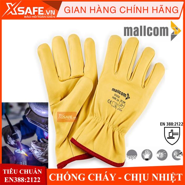 Găng tay hàn Mallcom da cừu mềm mại, chống cháy, chịu nhiệt bao tay hàn dùng cho hàn TIG hàn MIG, luyện đúc - Găng tay bảo hộ chính hãng XSAFE