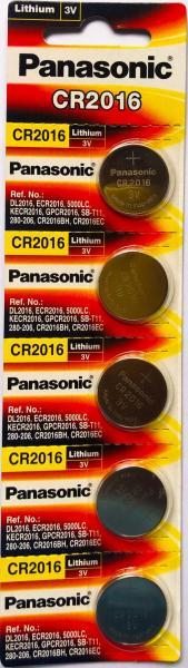 Giá Vỉ 5 Viên CR2016 Panasonic Made In Indonesia 3V