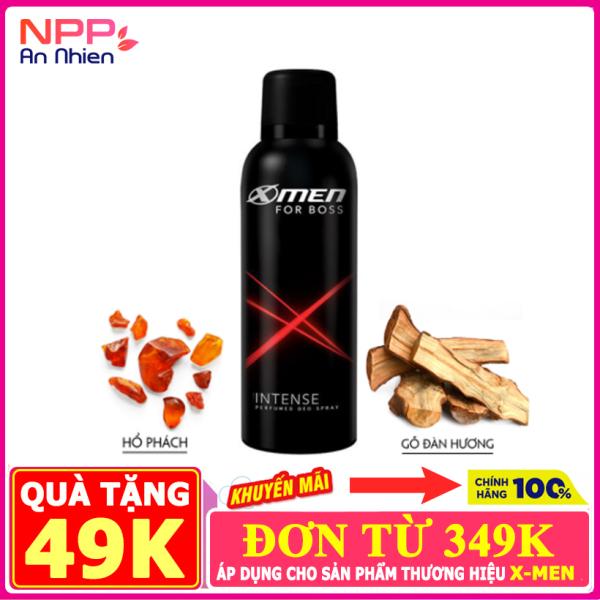 Xịt khử mùi X Men For Boss Intense 150ml Mùi hương trầm đầy nội lực- NPP AN NHIÊN