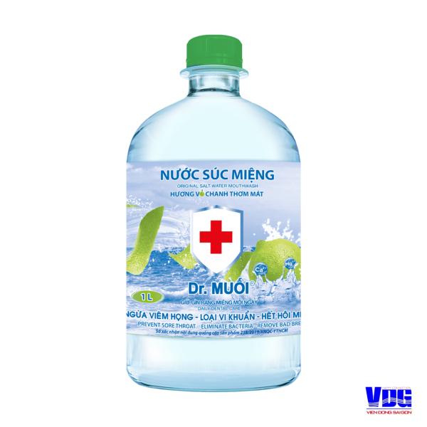 Nước súc miệng Dr. Muối hương vỏ chanh (1000ml) cao cấp