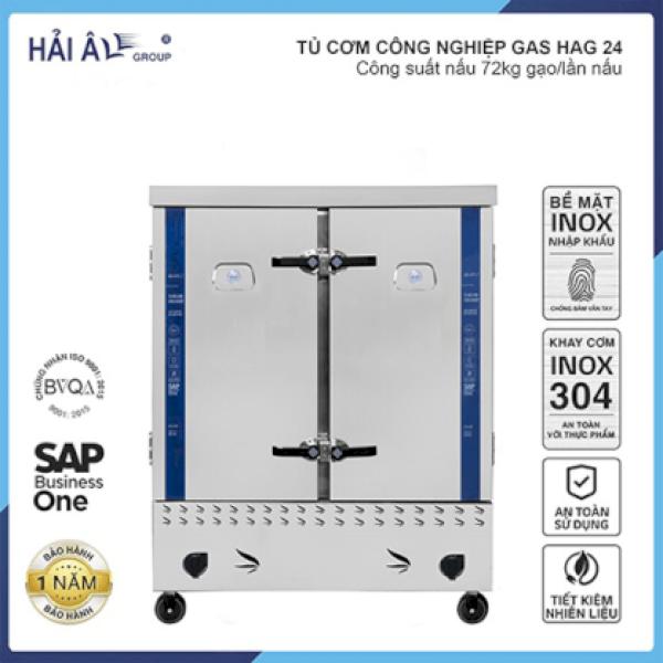 Tủ Cơm Công Nghiệp Hải Âu HAG 24 – Gas 24 Khay