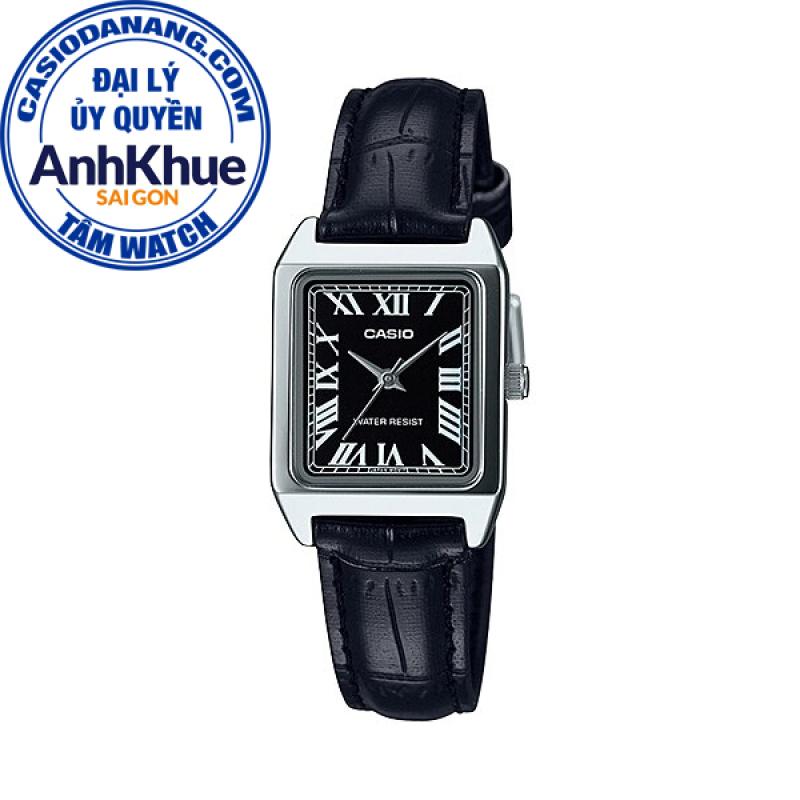 Đồng hồ nữ dây da Casio Standard chính hãng Anh Khuê LTP-V007L-1BUDF