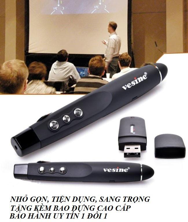 Bút thuyết trình, bút thuyết trình giá rẻ, Bút chỉ Powerpoint Laser Vesine VP-101 Cao cấp, nhỏ gọn, tiện dụng (Tặng kèm Pin và bao đựng)