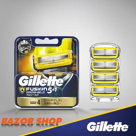 Lưỡi dao thay thế Gillette Fusion 5 + 1 Proshield Nhật Bản, vỉ 4 lưỡi giá rẻ