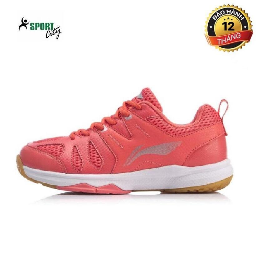Giày cầu lông nữ - giày bóng chuyền nữ Lining AYTP034-2 mẫu mới công nghệ đế giảm chấn giúp bảo vệ đôi chân khi di chuyển màu hồng đủ size giá rẻ