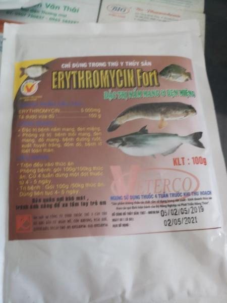 erythromycin fort 100g veterco