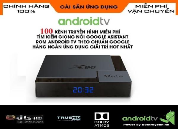 [HCM]Android Box X96 Mate Android TV 10 Allwinner H616 Ram 4GB Rom 32GB Wifi 2 băng tần 2.4Ghz/5Ghz Bluetooth 5.0 Lan 100Mb Cấu hình khủng trong tầm giá