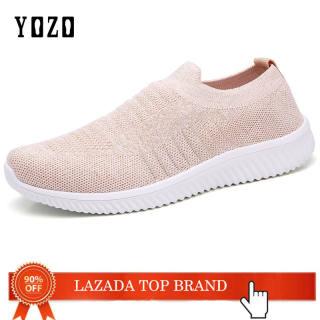 Giày YOZO Cho Nữ Giày Lười Mới 2020 Giày Đế Bằng Giày Thể Thao Nữ Đi Bộ Lưới Thường Ngày Tenis Feminino Giày Lưu Hóa Nữ Giày Thể Thao Lưới Nữ Giày Nữ Cỡ 42 Nữ Zapatos