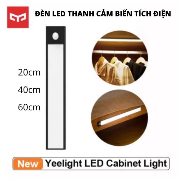 Đèn led thanh cảm biến dán tủ thông minh 20-40-60cm, pin sạc type C - Hàng nhập khẩu chính hãng