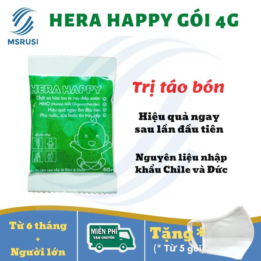 Hera Happy Bổ Xung Chất Xơ - Hỗ Trợ điều Trị Táo Bón - Cho Trẻ Từ 6 Tháng - Gói 4g - MSRUSI Giá Quá Tốt Phải Mua Ngay