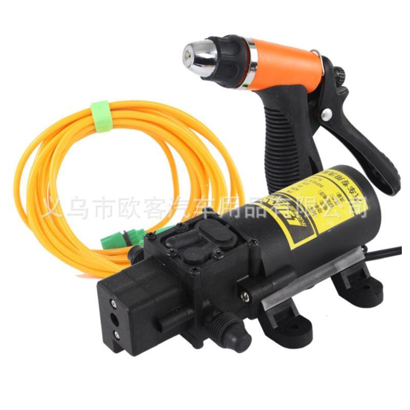 máy rửa xe mini trọn bộ đủ phụ kiện bơm 80w adapter 220-12v 7m ống trõ lọc, 1 đầu xịt nước