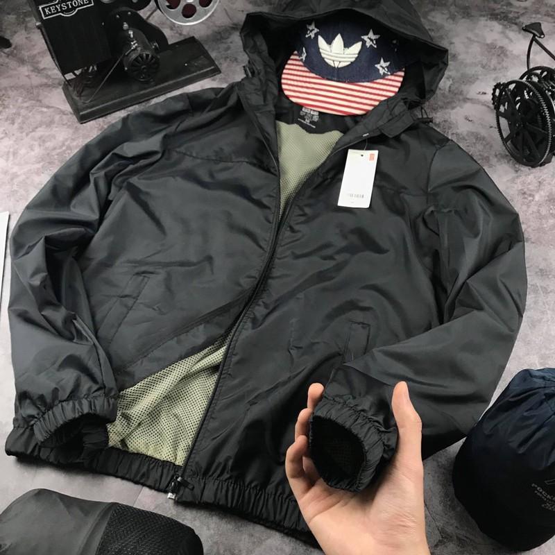Voucher Ưu Đãi [Tặng Ngay 1 đôi Tất  Khử Mùi] Áo Khoác Gió Nam Nữ 2 Lớp Chống Nắng - Chống Nước Kèm Túi Poket  - Vải Dù Nhẹ, Giữ ấm Hiệu Quả - Có Nhiều Màu  - Thời Trang Azila - G01