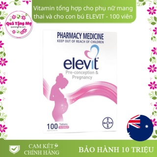 Elevit Vitamin Tổng Hợp Cho Bà Bầu Của Úc Hộp 100 Viên thumbnail