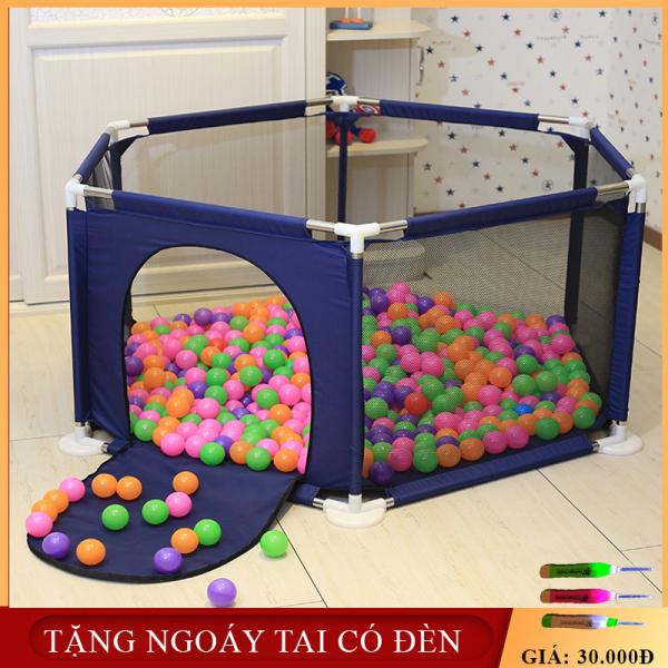 (TẶNG KÈM 10 BÓNG) Lều bóng- cũi bóng - nhà banh khung thép không gỉ chắc chắn an toàn cho trẻ từ 6 tháng tuổi