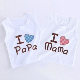 ÁO BA LỖ CHO BÉ TRAI BÉ GÁI MẪU I LOVE MAMA, PAPA thumbnail