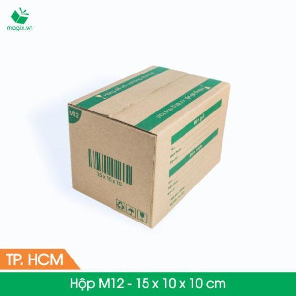M12 - 15x10x10 cm - 60 Thùng cartop - hộp carton đóng gói