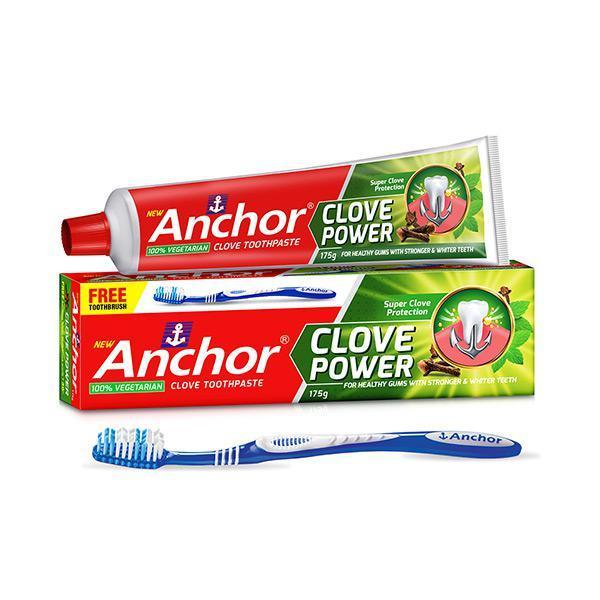 Kem đánh răng Đinh Hương Anchor Clove Power 175g (Tặng kèm bàn chải)