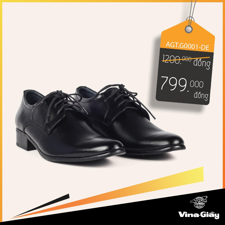 Giày Tây Nam Vina-Giầy AGT.G0001-DE Giá Siêu Rẻ