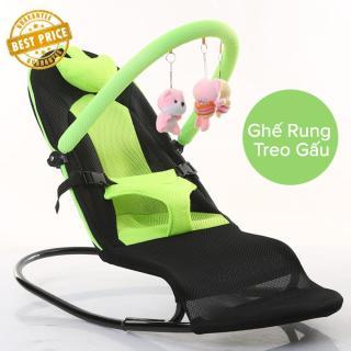 Ghế Rung Trẻ Em Có Đồ Chơi, Ghế nhún, rung đa năng. Ghế nhún đa năng cho bé tặng kèm thú treo, thiết kế đặc biệt dành cho trẻ từ 0 đến 2 tuổi. Bảo Hành 12 Tháng. thumbnail
