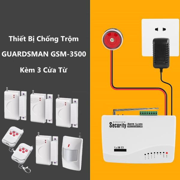Thiết Bị Chống Trộm Amos GSM 3500 Kèm Tặng Kèm 3 Bộ Kiểm Soát Mở Cửa