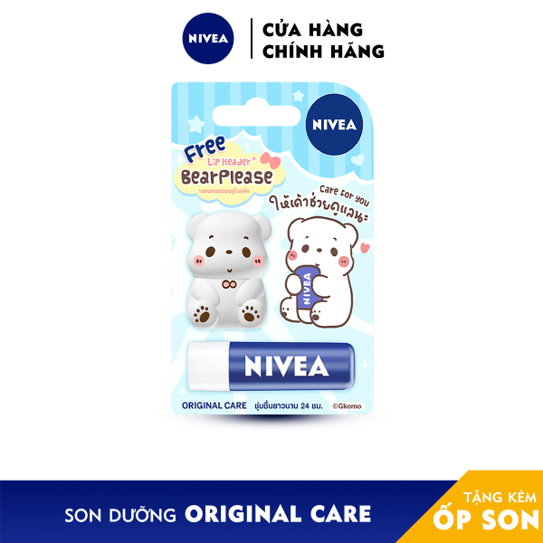 Son dưỡng môi chuyên sâu NIVEA LIP ORIGINAL CARE tặng kèm ỐP SON - 85061