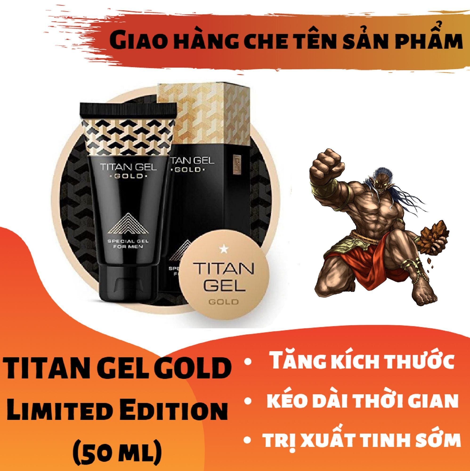 Titan-Gel-Nga GOLD cao cấp phiên bản giới hạn - Gel dành cho nam - hàng chuẩn Nga tăng kích thước cho cậu bé ( Che tên khi nhận hàng ) chính hãng